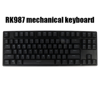 RK987 TKL Black 87 Keys Mechanical Keyboard Cherry Mx Brown Blue Switches Gaming Keyboard White LED Backlit NKRO Keyboard