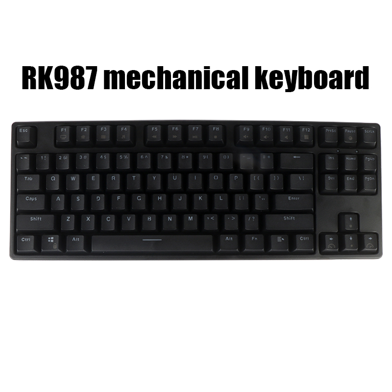 RK987 <font><b>TKL</b></font> Black 87 Keys <font><b>Mechanical</b></font> <font><b>Keyboard</b></font> Cherry Mx Brown Blue Switches Gaming <font><b>Keyboard</b></font> White LED Backlit NKRO <font><b>Keyboard</b></font> image