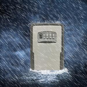 Image 5 - מפתח אחסון מנעול תיבת קיר רכוב עמיד מפתח מנעול תיבה עם 4 ספרות שילוב עבור מנעול תיבת מקורה חיצוני
