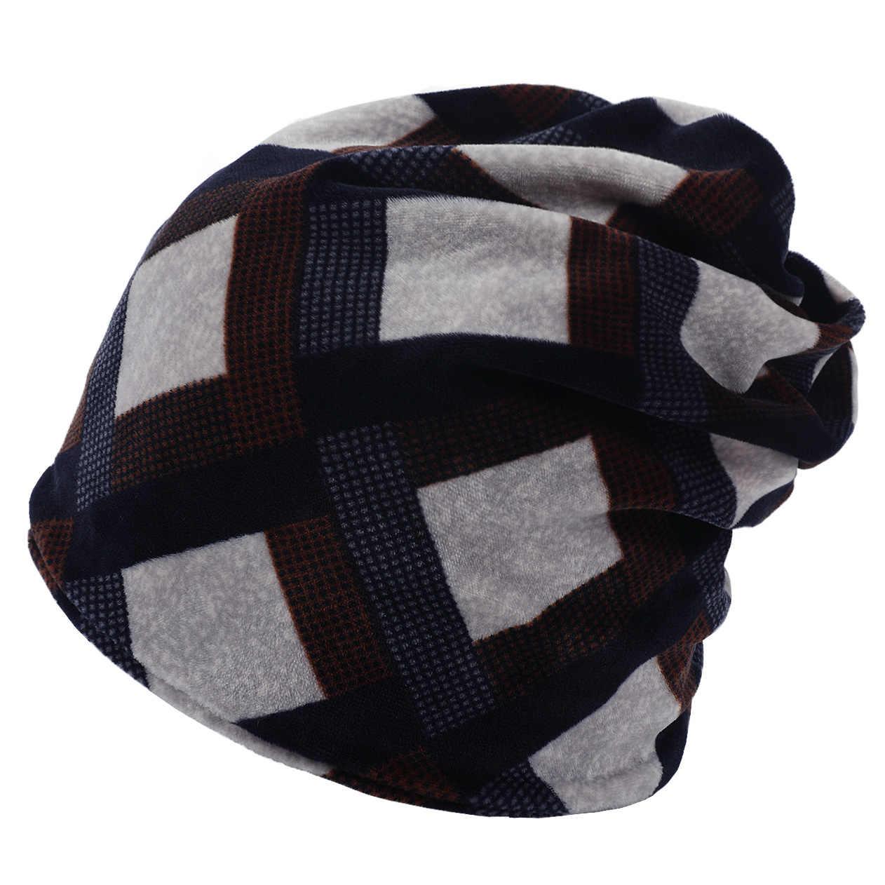 الدافئة قبعة صوفية لفصل الشتاء قبعة ل رجل جديد الياقة المدورة قبعة منقوشة طباعة التكتيكية الصوف ووتش كاب ، أسود واحد حجم الجمجمة بيني