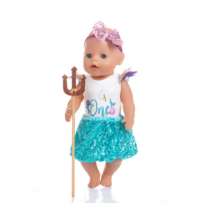 4pcs In 1,  Fashion Swim Suit Fit For Baby Reborn Dolls 43cm Doll Clothes.