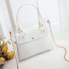 Small Leather Handbags for Women 2019 Transperent PVC Hand Bags Female Mini Shou