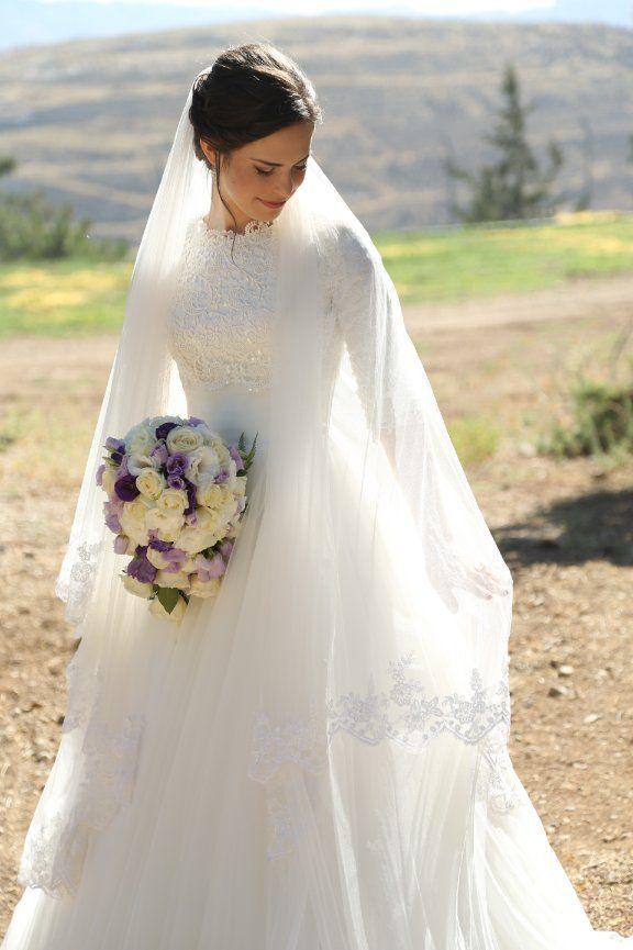 Muslim Style Tulle 2018 Lace Jewel Neck Floor Length Bridal Gown Plus Size Custom Vestido De Noiva Mother Of The Bride Dresses