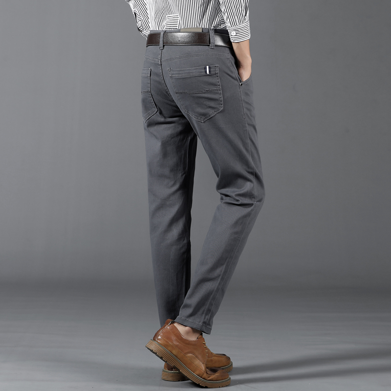 Classic 6 Color Casual Pants Men Spring Autumn New Business Fashion Comfortable Stretch Cotton Elastic Straigh Jeans Trousers 5