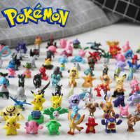 144 Uds diferentes estilos Pokémon Anime figuras de Tomy Pokémon Pikachu de 2-3cm figura juguetes niños regalo de cumpleaños