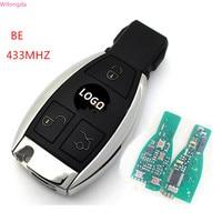 Wilongda carro chave accessorry 3 botões remoto chave 433 mhz 2 bateria para mercedes benz nec bga ser chave de automóvel|Chave do carro| |  -