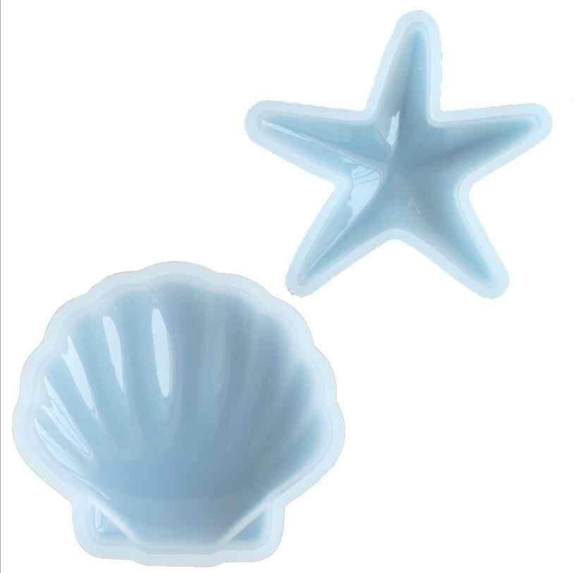 ثلاثية الأبعاد نجم البحر شل لتقوم بها بنفسك كريستال بالتنقيط قالب من السيليكون بادنجتون هندسية الجبس قالب مادة سيارة الديكور