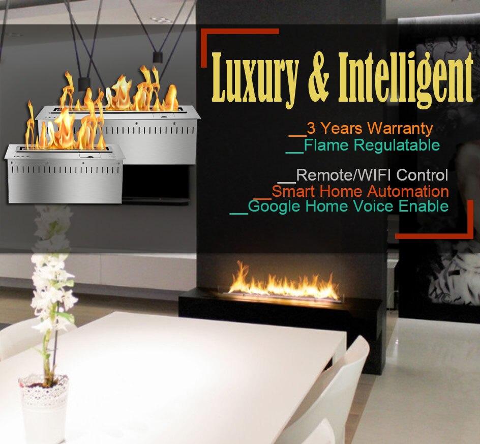 Hot Sale 24 Inches Modern Fireplace Ethanol Ventless Remote Burner Insert