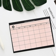 Paper-Pad Office-Supplies Monthly-Planner Agenda School Gift Desk 30-Sheets DIY Simple-Style