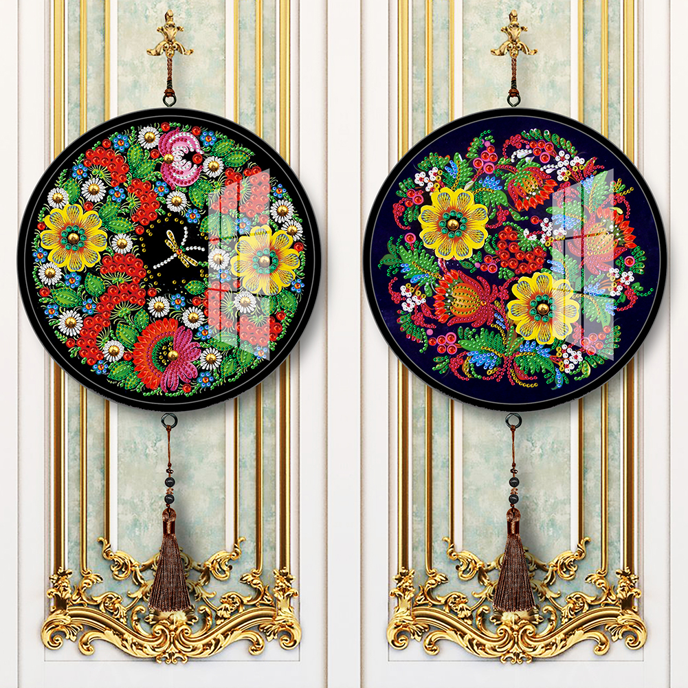 2Pcs 5D Full Drill Diamond Painting Mandala Tassel Embroidery Mosaic Kit Bedroom Wall Arts DIY Decorative Accessories
