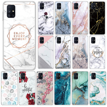 Marble Case For Samsung Galaxy M51 4G Soft Silicone Back Cover For SamsungM51 GalaxyM51 M 51 6.7 Phone Cases TPU Fundas Coque image