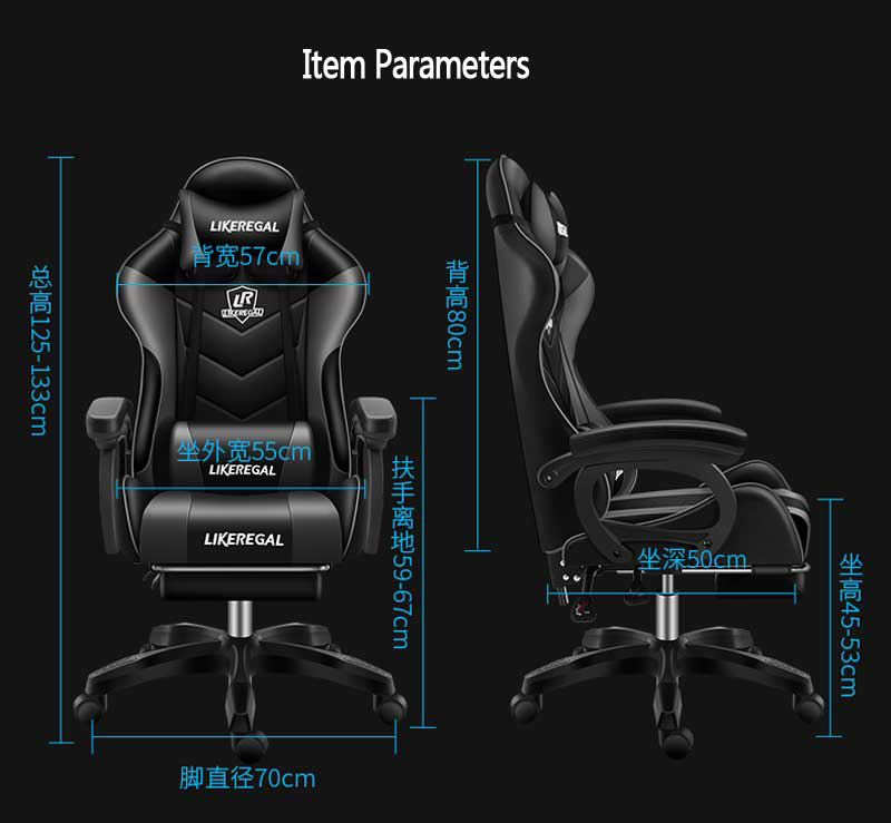 Closeout DealsOffice-Chair Gamer Headrest Racing-Seat Gaming High-Back No with Removable And Top