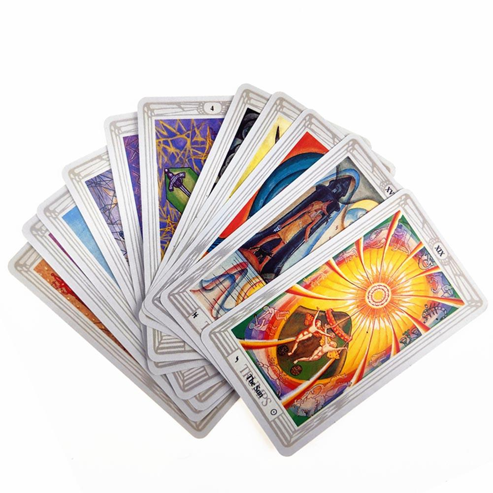 78 Cards/sets 2019 Full English Thoth Tarot Deck Tarot Cards Factory Made High Quality Deck Board Game Cards