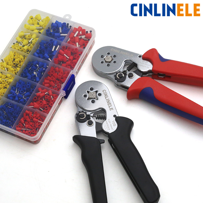 Tube Bootlace VE&TE Terminals Crimping Pliers & Terminals Set (Note:handle color) Hand Tools Electrician Crimper Hsc8 6-4 6-6(China)
