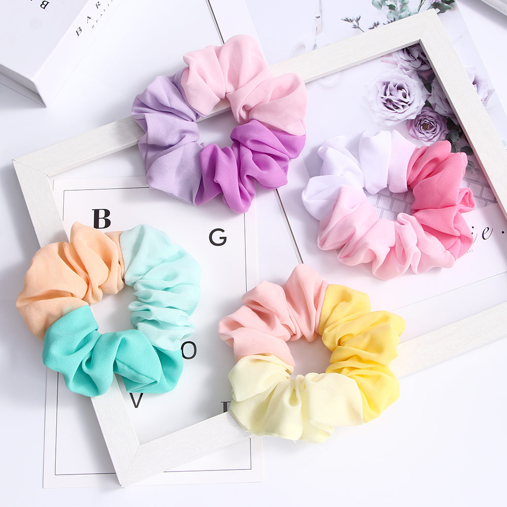 1 Pcs Hair Scrunchies Velvet Elastic Hair Bands Scrunchy Ties Ropes  Women Girls Headwear Ponytail Holder Hair Accessories