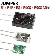 Jumper r1/r1f/r8/r900 mini receptor 16ch sbus para t18 pro plus d16 d8 modo rádio remoto r8 apenas para pix px4 apm controle de vôo