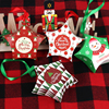 8pcs Christmas Gift Boxes Santa Claus Candy Box Star Shape Merry Christmas Boxes Bags for Home New Year Xmas Decor Kids Gifts