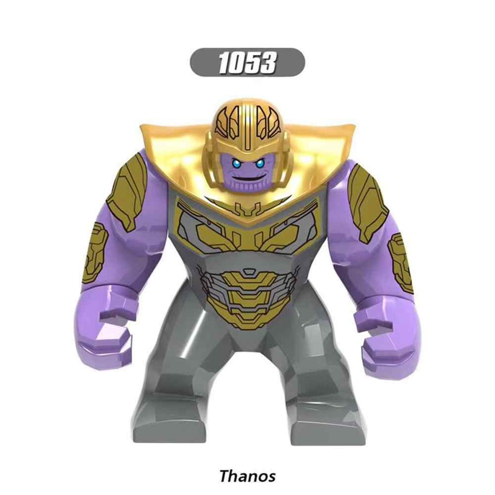 Ukuran Besar Blok Bangunan Avengers Super Hero Thanos Hulk Iron Man Spiderman Hulk Antman Batman Playmobil Mainan untuk Anak