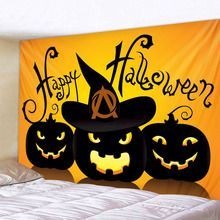 Halloween pumpkin holiday party pumpkin background tapestry background decoration cloth printing multiple sizes plank pumpkin print halloween wall tapestry