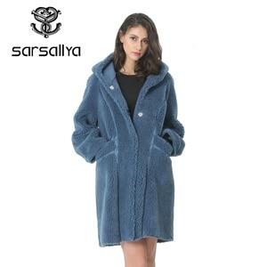 Image 3 - Kadın yün ceket kış kadın uzun ceket Hood sonbahar yün Blend Peacoat kız sıcak kaşmir palto bayanlar pembe güz 2020 zarif