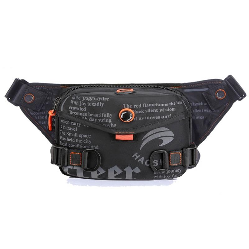 Waterproof Waist Bag For Men Fanny Pack Fashion Outdoor Sports Crossbody Bags Chest Bag Travel Belt Waist Pack Phone Pouch