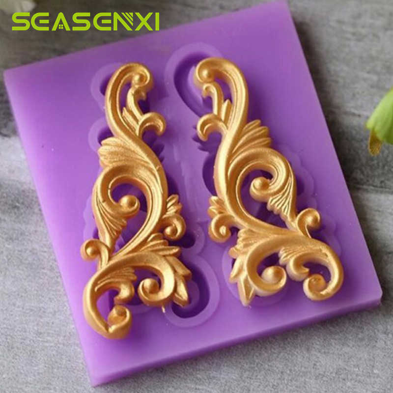 Flower Lace Pattern Silicone Mold Cake Border Fondant Cake Decorating Tools For DIY Sugar Craft Chocolate Gumpaste Candy Mould