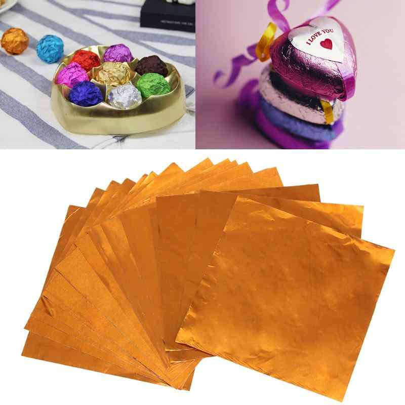 100Pcs Foil Wrapping Chocolate Candy Confectionery Products Decoration P0D4
