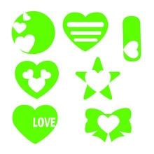 YaMinSanNiO 6pcs/lot Heart Love Dies Star Metal Cutting For Scrapbooking Embossing Cut Stencils Cards Craft New