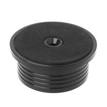 1 pçs 3in1 braçadeira de registro de metal lp disco estabilizador plataforma giratória para o registro de vinil vibração balanceada ouro preto prata