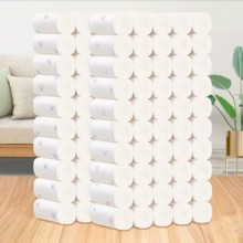 Toilet Paper Bulk Rolls Bath Tissue Bathroom White Soft 5 Ply 12 Rolls
