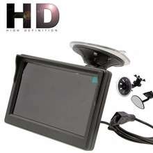 5 Inch Car Monitor Tft Lcd Hd Digital 800*480 Screen 2 Way Video Input Colorful For Reverse Rear View Camera Dvd Vcd#g3