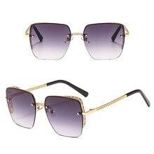 2020 Vintage metal square Sunglasses Women Luxury design Mirror Lens Men fashion glasses lunettes de soleil homme/feminino