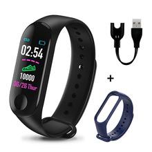 M3 Plus inteligentny bransoletka ciśnienie krwi zespół opaska monitorująca aktywność fizyczną Sport zegarek tętna inteligentna opaska monitorująca dla Android iOS tanie tanio READ CN (pochodzenie) Z systemem Android Wear Na nadgarstek Zgodna ze wszystkimi 128 MB Krokomierz Rejestrator aktywności fizycznej