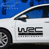Car Stickers WRC Championship Creative Sports Racing Decals Waterproof Vinyls Auto Tuning Styling 50cm 80cm D22