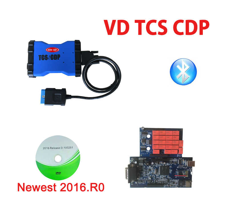 Màu Sắc Xanh Dương 2016.R0 Phiên Bản Với Keygen Thiết Kế Mới Dành Cho Delphis Có Bluetooth OBD2 Công Cụ Chẩn Đoán + 8 Chiếc Xe Tải Cáp