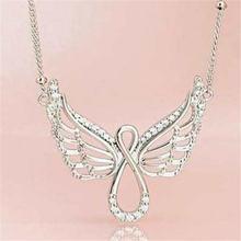 Модное роскошное популярное ожерелье с крыльями ангела из циркония