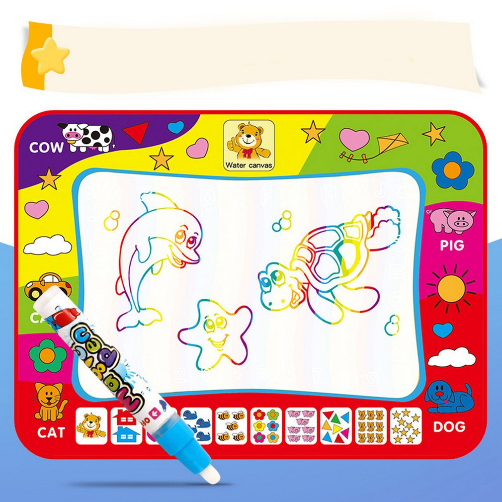 New High Quality Educational 60*80 Cm Children's Magic Water Canvas Blanket Write Graffiti Pen Doodle Baby Toy Creative Reuse
