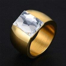 Anillos de circón de acero inoxidable de oro para mujer, joyería, anillo de plata, anillo de cristal violeta Vintage para hombre, anillos de boda de piedra negra para mujer