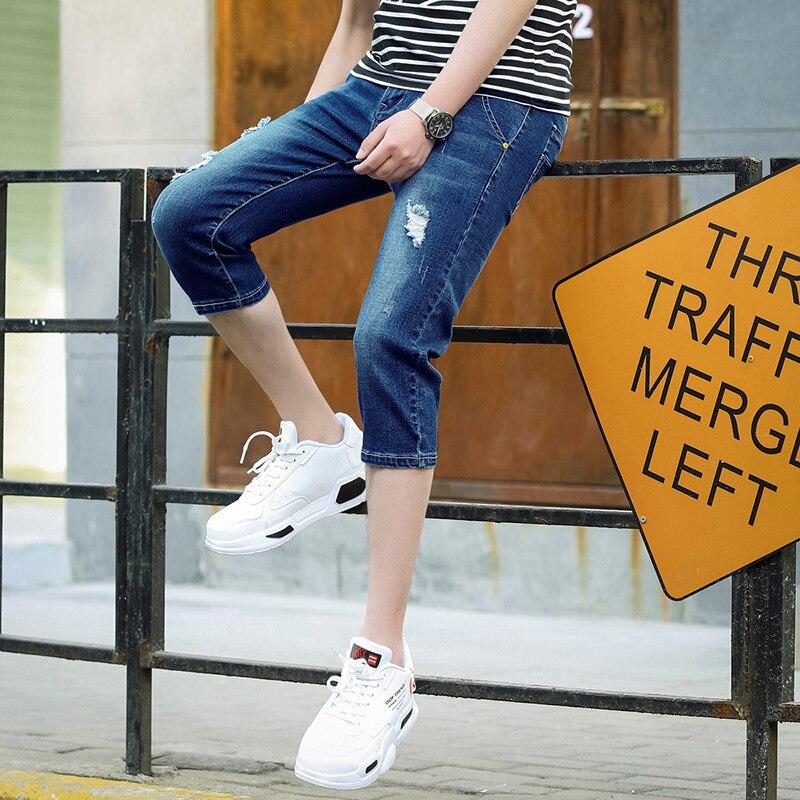 Men's Wear Elasticity Capri Pants 2019 New Style