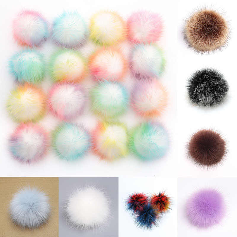 Fashion Big size 10cm Pompom Balls Soft Pompons Fluffy Plush Fur Ball  Multicolor Pom Pom Kids Toys DIY Sewing Craft Supplies