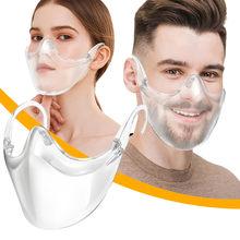 Masque facial de soin de la peau adulte couverture de bouche transparente Mascararilla Mondkapjes masque facial réutilisable clair pour adultes masque visage