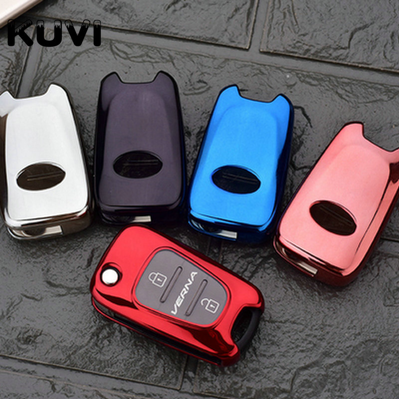 Car Styling Soft TPU Car <font><b>Key</b></font> Case Cover For <font><b>KIA</b></font> K2 K5 Rio Piconto <font><b>Sportage</b></font> 2006 2007 2008 2009 2010 <font><b>2011</b></font> 2012 2013 for Hyundai image