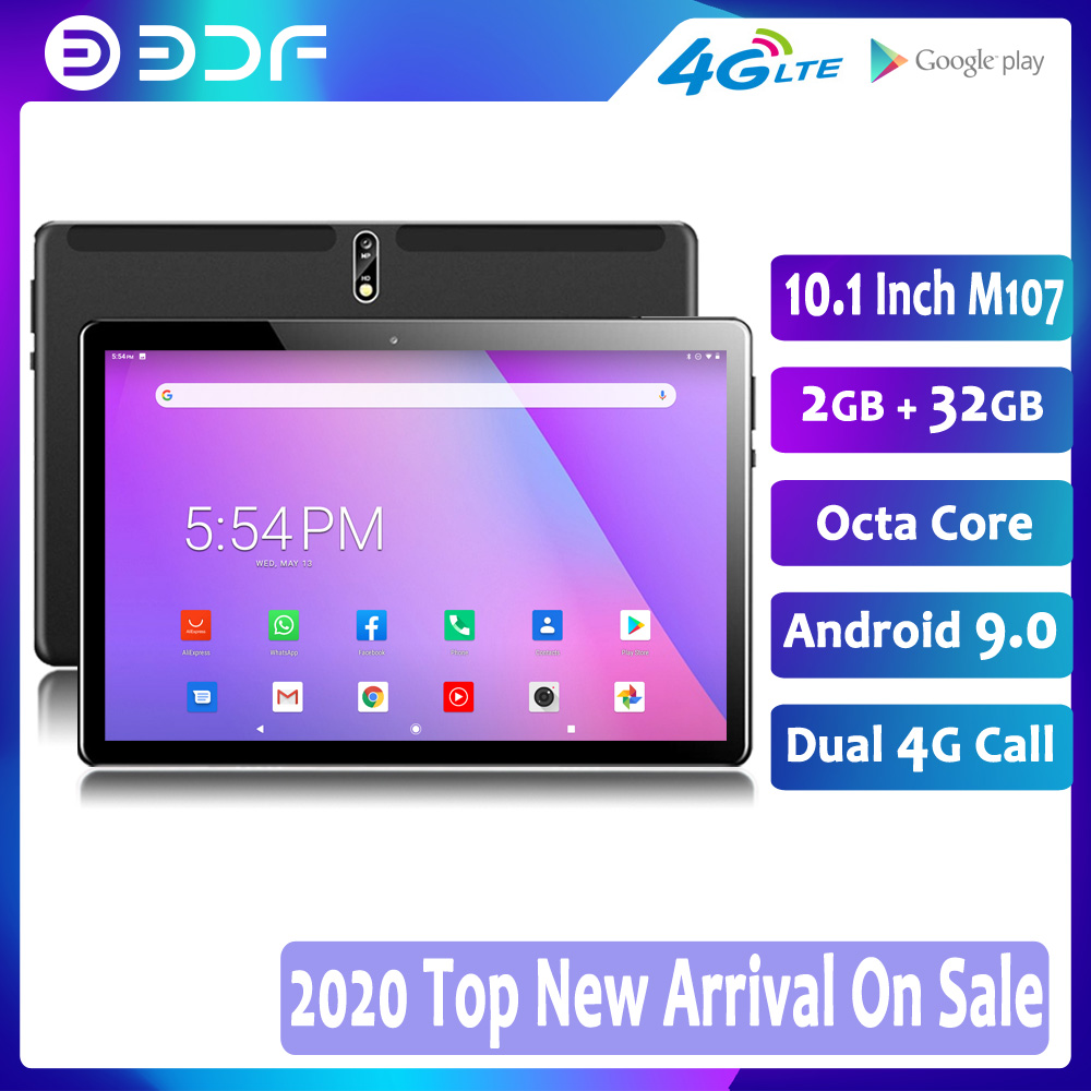 2020 New Android 9.0 10.1 Inch Tablets 32GB ROM Octa Core 4G LTE Dual SIM Phone Call IPS Tablet PC WiFi GPS Google Play 10 9 Tab