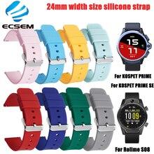 Pasek silikonowy do zegarka Kospet prime SE smartwatch akcesoria bransoletka 24MM opaska na zegarek Rollme S80 regulowany pasek pętelkowy