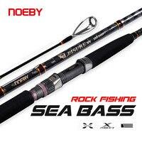 Noeby Spinning Sea Bass Angelrute 2,75 m 3,05 m H MH Power Locken Angelrute 2/3 Abschnitt 10-70g Locken Gewicht für Rock Angelrute