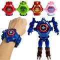 Детские часы Disney «Холодное сердце», фигурки героев мультфильма Marvel, Человек-паук, Железный человек, часы супергероев, Аниме фигурки, подарок...