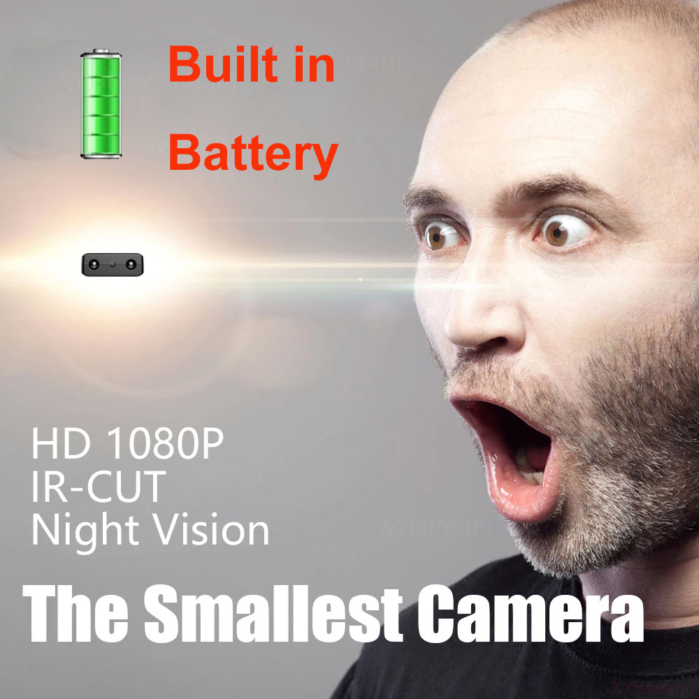 Мини-камера XD IR-CUT наименьшая Full HD 1080P для домашней безопасности видеокамера с инфракрасным ночным видением микро-камера DV DVR Обнаружение дви...