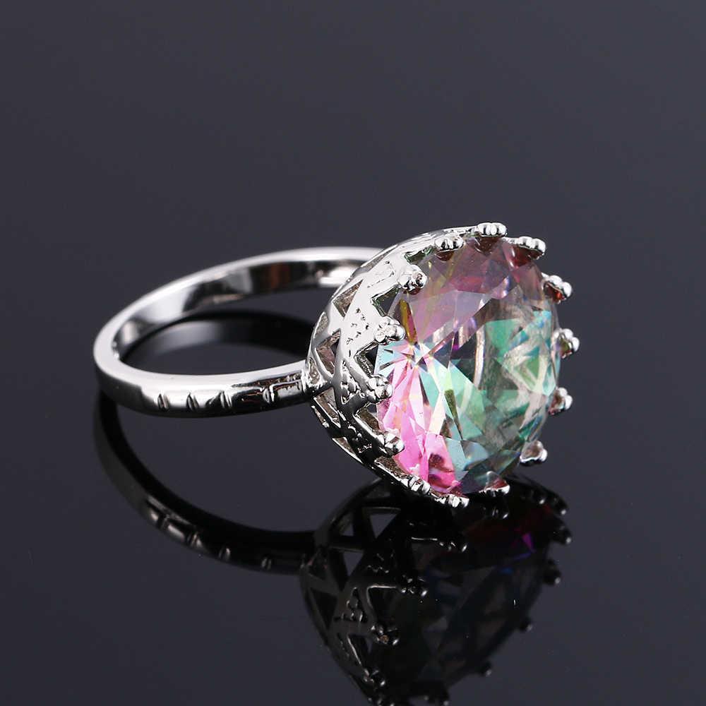 למעלה איכות נוצר כחול ספיר טבעות לנשים כסף 925 סטרלינג תכשיטי טבעת חתונה אירוסין מסיבת מתנה גודל 6 7 8 9 10
