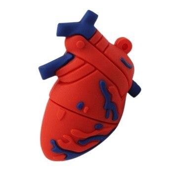Fun Organ Heart Brain Usb Flash Drive 32GB Pendrive Memory Card 4GB 8GB 16GB Pen 64GB 128GB 256GB Stick Free Shipping