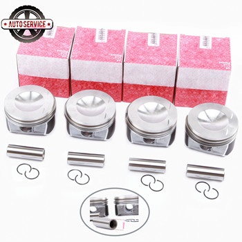NEW 06D 198 151 B  STD Piston & Ring Assembly Pin 20mm For Audi A4 A6 TT VW EOS Golf GTI MK5 Passat2.0TSI BPY 06D198151B 82.5mm